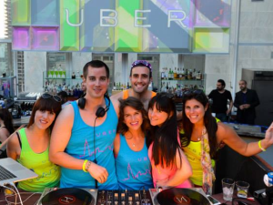A rooftop party for Uber Chicago, whose happy family was disrupted last month when Uber fired over a dozen of its support staff for using a discount code they weren't told not to use. (Photo: Uber)