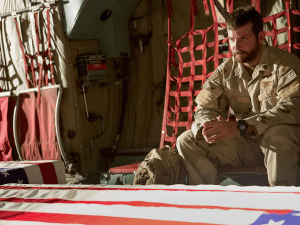 American Sniper star Bradley Cooper in a scene from the surprise blockbuster (Warner Brothers)