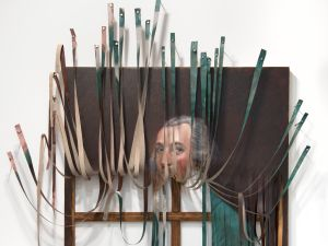 Titus Kaphar, Stripes, (2014). (©Titus Kaphar. Courtesy of the artist and Jack Shainman Gallery, New York)