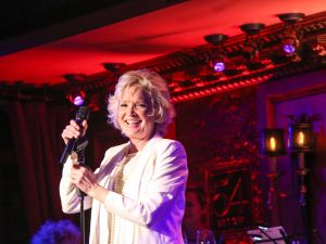 Christine Ebersole on stage at 54 Below. (Photo: Stephen Sorokoff)