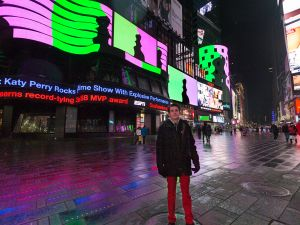 Rafaël Rozendaal's Much Better Than This will be up in Times Square every night from 11:57pm-midnight. (Photo: Ka-Man Tse for Times Square Arts)