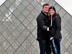 Selfie Stick at the Louvre. (Photo courtesy Remy De La Mauviniere/Associated Press)