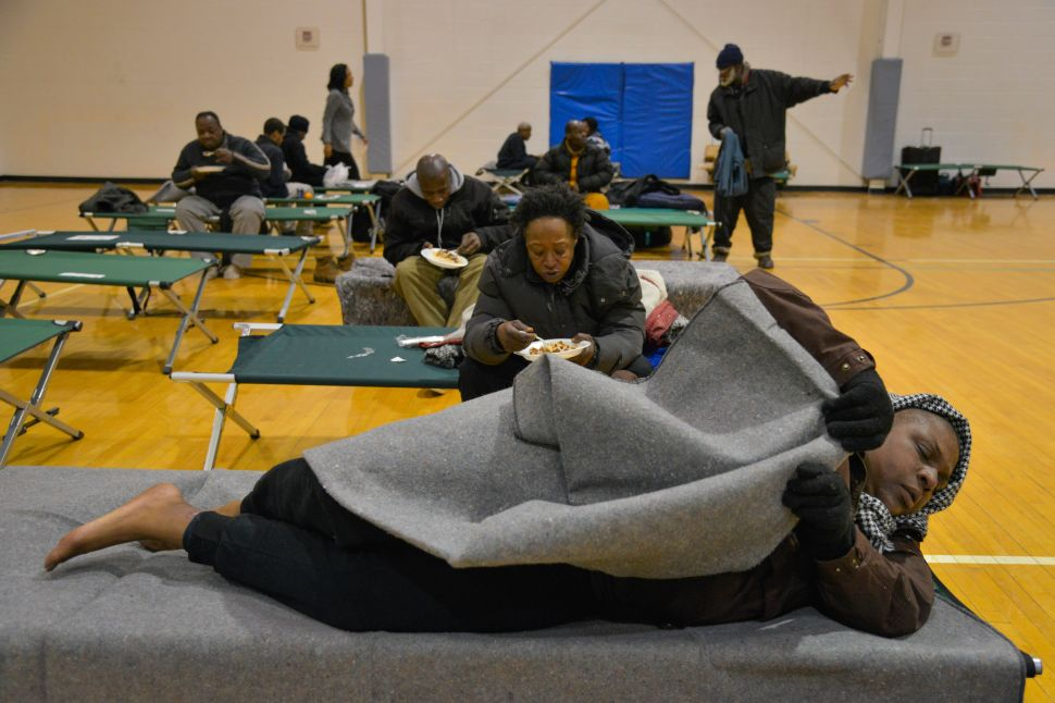 Number of City's Homeless Seeking Shelter Reaches Record High
