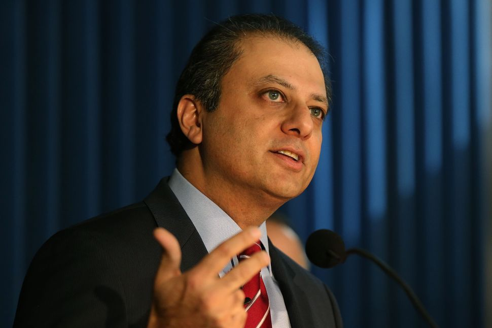 Preet Bharara Defends His Public Appearances at Zephyr Teachout Forum