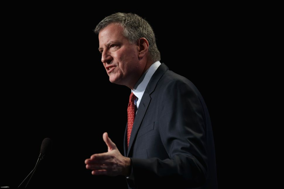 Bill de Blasio Says Indiana Religious Law Is 'Doomed to Failure'