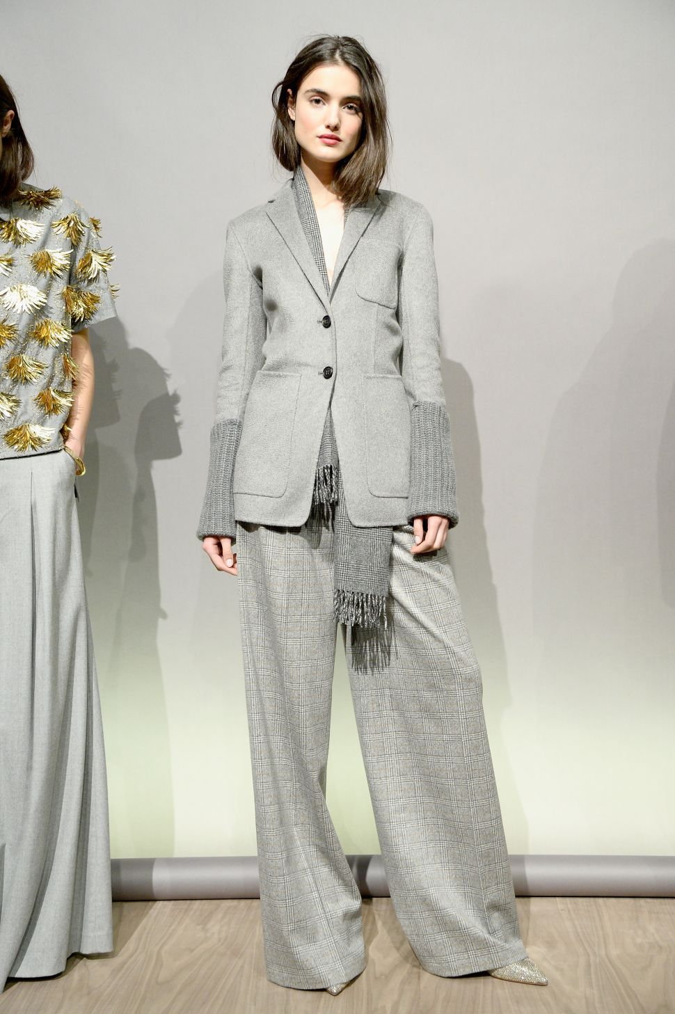 The Grey Flannel Suit Is Making a Huge Comeback for Women This Fall