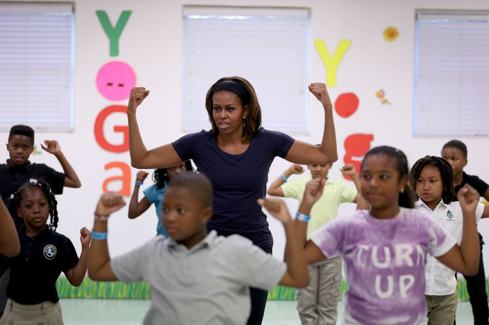 Michelle Obama Touts Gains in Anti-Obesity Campaign