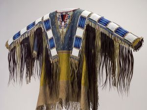 Man's Shirt (1865), Oglala Lakota (Teton Sioux) artists (Photo courtesy Buffalo Bill Center of the West/Metropolitan Museum of Art).