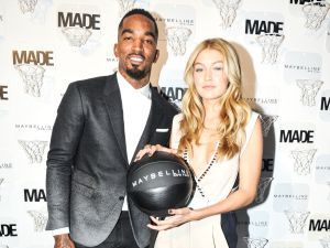 JR Smith and Gigi Hadid at Milk Studios' penthouse (Photo: Getty).