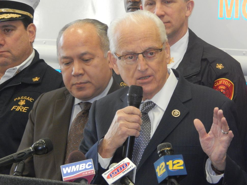 Trying to secure homeland security dollars, Pascrell goes after Giuliani, Christie