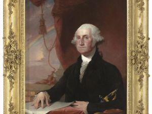 Gilbert Stuart, Portrait of George Washington. (Courtesy the Louvre Abu Dhabi)