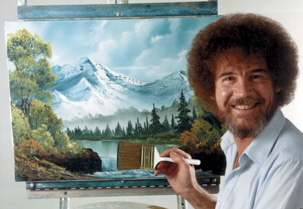 An Artist's Ode to PBS Paintings Great Bob Ross