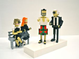 From right to left: Anna Wintour, Grace Coddington, Marc Jacobs, and Karl Lagerfeld in Lego formation. (Photo: LEGOLAND Discovery Center Westchester)
