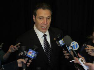 Gov. Andrew Cuomo today (Photo: Will Bredderman/New York Observer).