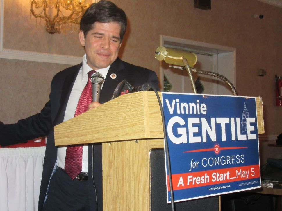 Vincent Gentile Raises Almost $200K for Congressional Race