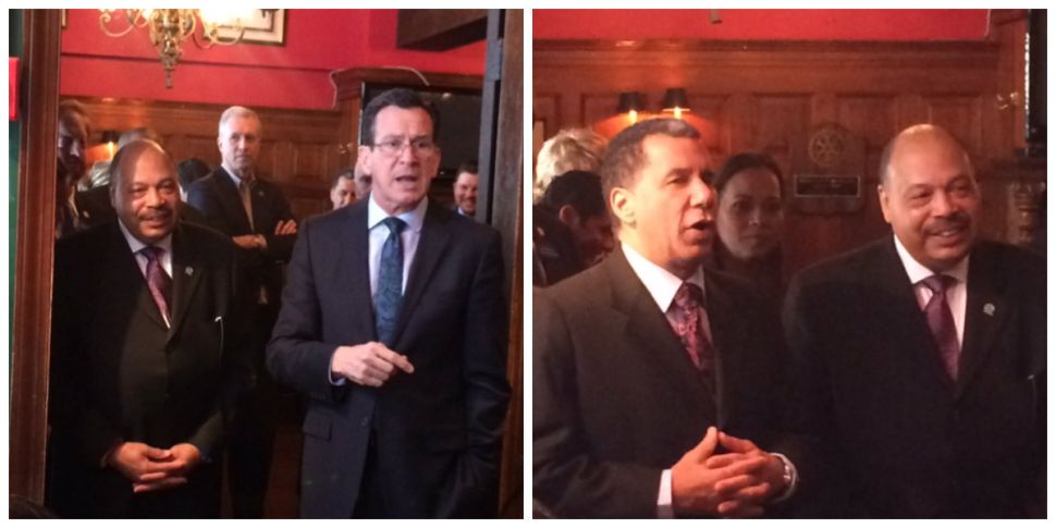 Malloy, Paterson welcome N.J. Dems to D.C., slam Christie