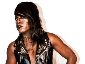 M Lamar, in full goth garb. (Photo by Amos Mac)