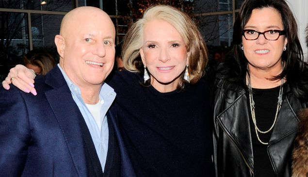 Ronald O. Perelman, Sheila Nevins and Rosie O'Donnell at Michael's restaurant Wednesday, Feb. 11 to launch 'Rosie O'Donnell: A Heartfelt Stand Up' HBO Documentary. (Nicholas Hunt/PatrickMcMullan.com)