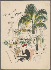 Menu from the Palm Court - The Plaza Hotel, 1959. (Photo Credit: Rare Books Division, The New York Public Library)