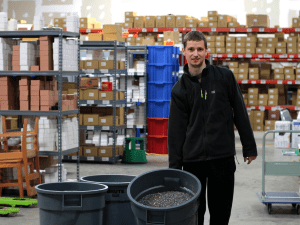 Mr. Boychuk with a bucket of glitter. (Photo: Peter Boychuk