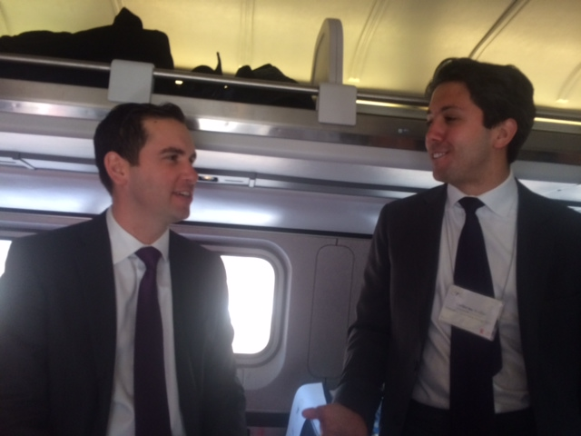 The Walk to Washington: Politicking and prognosticating amidst the bar cars