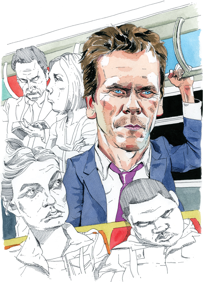 Kevin Bacon Rides the NYC Subway for 'Research and Inspiration'