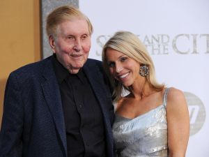 """Chairman of the Board, Viacom and CBS Corp Sumner Redstone and his girlfriend Malia Andelin attend the premiere of """"Sex and the City 2."""" (Photo by Stephen Lovekin/Getty Images)"""