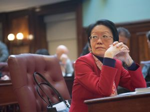 Margaret Chin at a City Council meeting. (Photo: William Alatriste/City Council)