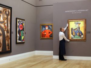 Works from the Impressionist and Modern Art Evening Sale at Sotheby's New York on May 2, 2012. (Photo: Oli Scarff/Getty Images)