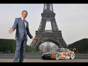 BMW paid Jeff Koons a lot of money to design something it calls the BMW Art Car, because that's just the world we live in. (Photo courtesy BMW)