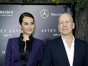 Emma and Bruce Willis. (Patrick McMullan)