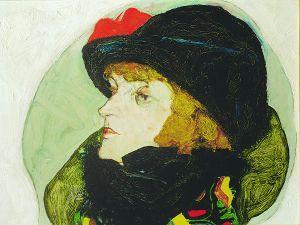 Egon Schiele, Portrait of Ida Roessler 1912.