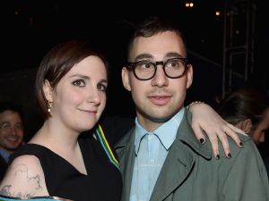 "Lena Dunham and Jack Antonoff attend the ""Girls"" season four series premiere after party at The Museum of Natural History on January 5, 2015 in New York City. (Jamie McCarthy/Getty Images)"