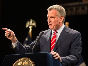 Mayor Bill de Blasio. (Photo: Andrew Burton for Getty Images)