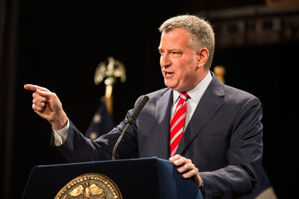 De Blasio 'Surprised' by Netanyahu Ruling Out a Palestinian State