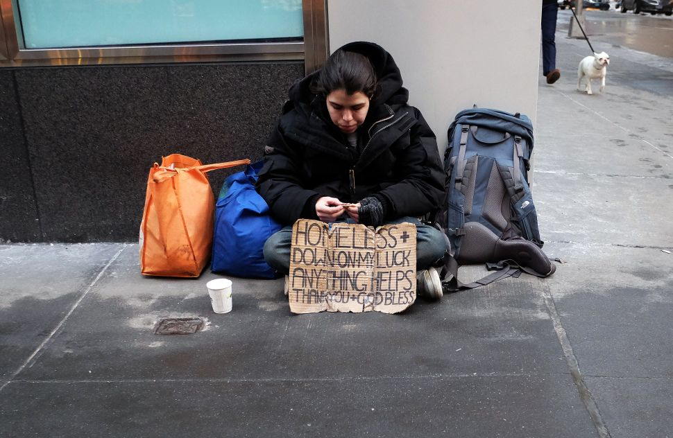 Bill Bratton's Solution to Homeless Panhandling: Don't Give Them Money
