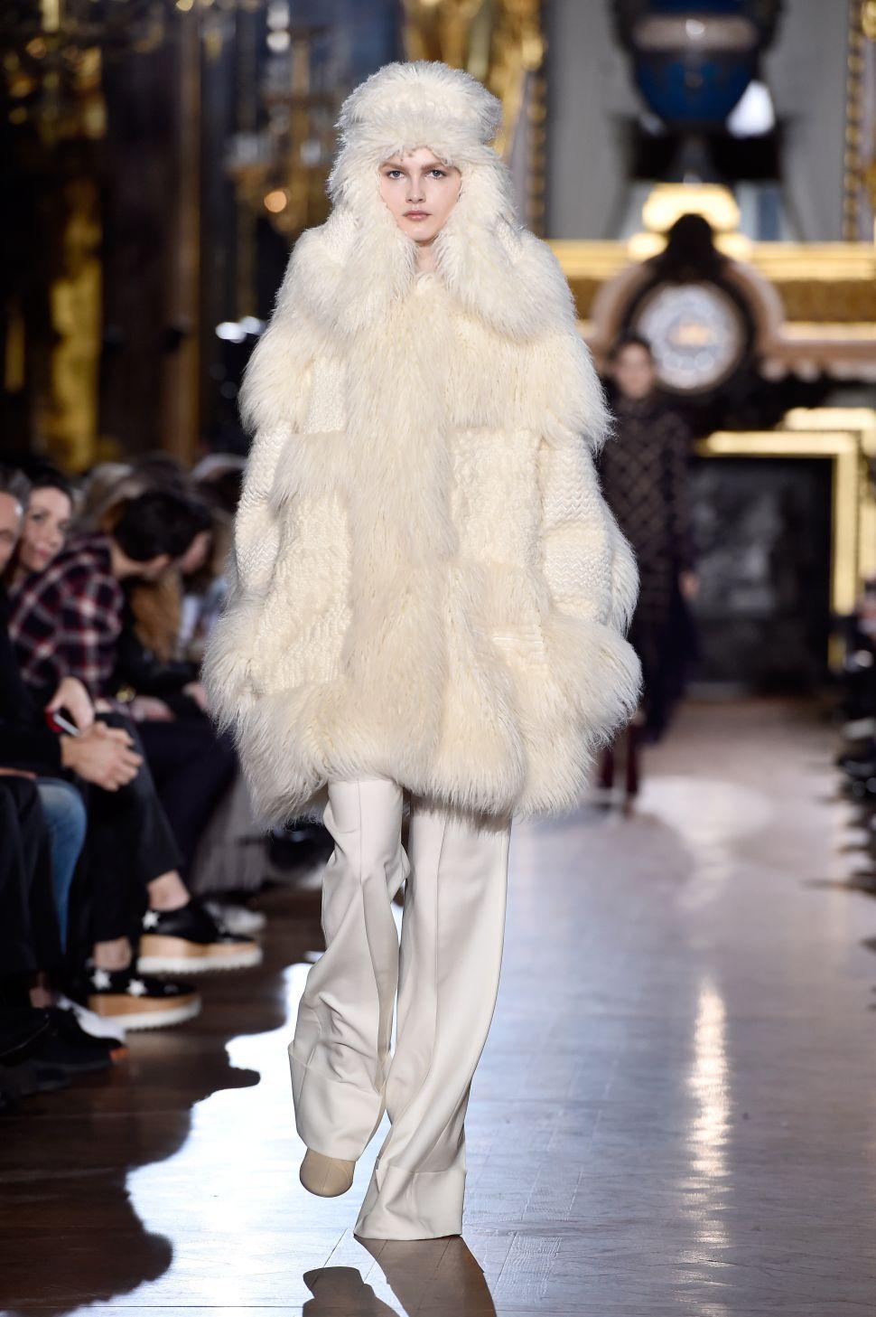 Lifelong Vegetarian Stella McCartney Debuts Faux Fur Coats, Refuses the Real Deal