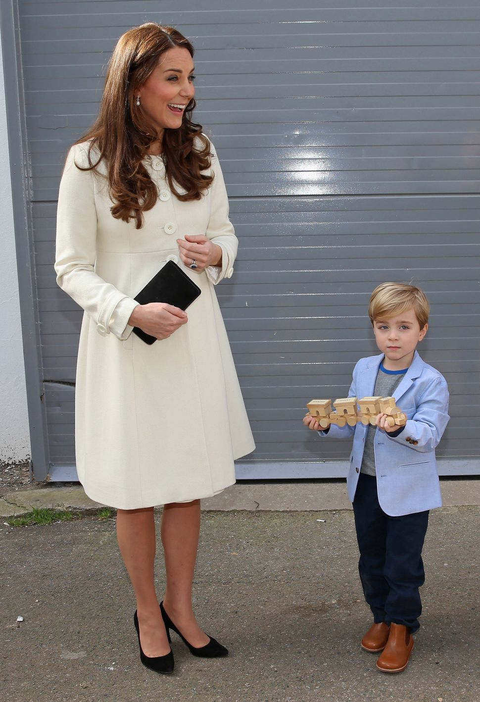 Kate Middleton Visits 'Downton Abbey' in White Coat: Copy Her Look