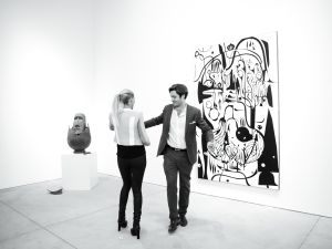 Elodie Taittinger and Richard Taittinger at the opening of Richard Taittinger gallery. (Courtesy Billy Farrell)