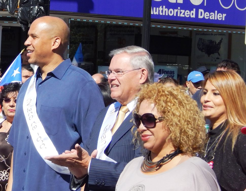 The Menendez question and that potential to augment Booker's national relevance