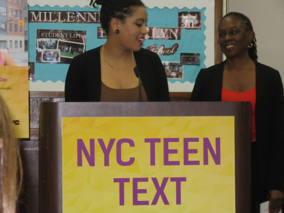 Chirlane McCray and Chiara de Blasio Launch Teen Text Message Counseling Service