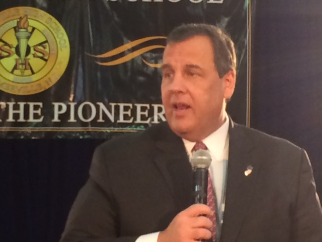 Christie at St. Anselm's College in NH on Tuesday