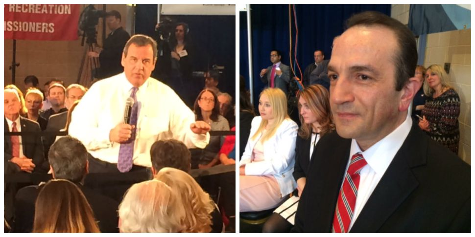 At Christie town hall meeting, Exxon settlement debate oozes in the background