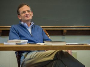 New Metropolitan Museum of Art president Daniel H. Weiss, teaching at Haverford College. (Courtesy, Haverford).
