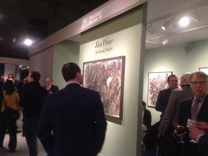 Jim Dine at Pace Gallery (Photo: Alexandra Peers).