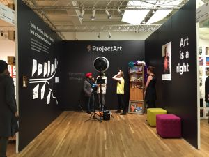 The ProjectArt booth at Pulse. (Courtesy Pulse New York)