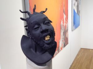 Jeffs Muhs' bust of ODB at features an exact replica of the rapper's gold leaf grill. (Photo: Briana McGurran)