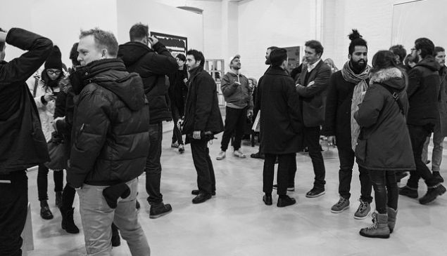 Independent during its Vernissage Thursday night. (Photo courtesy the Independent Instagram account)