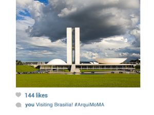 Lúcio Costa and Oscar Niemeyer. Plaza of the three powers, Brasilia, Brazil, 1958-1960. Photograph: Leonardo Finotti Graphic: Stela Khury