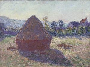 A Haystack in the Evening Sun, a work long rumored to be a Monet. Turns out it actually is. (Courtesy Gösta Serlachius Fine Arts Foundation)